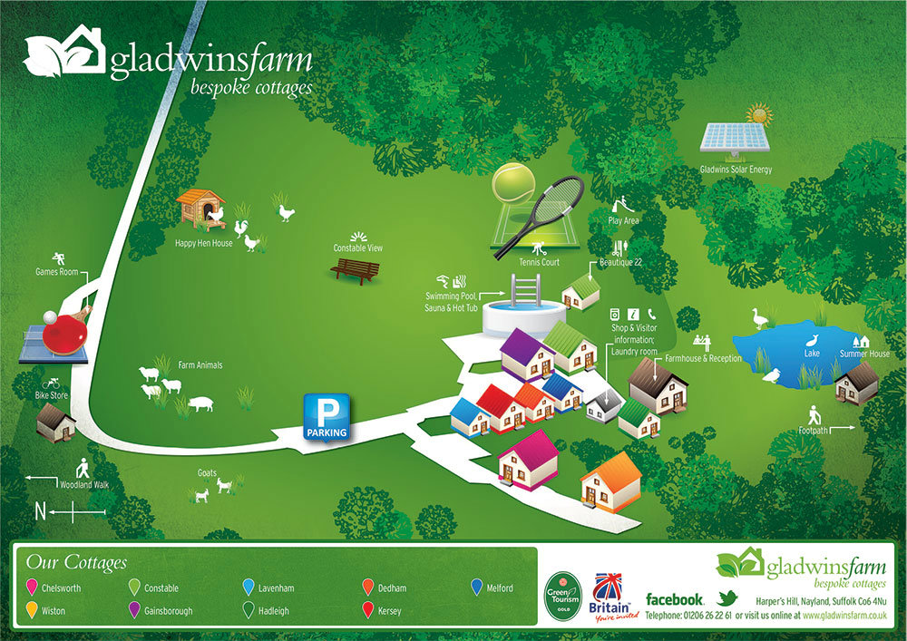 Gladwins Farm Site Map